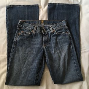 7 for all mankind flare jeans light wash size 25